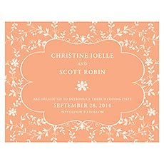 Forget Me Not Save The Date Card
