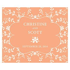 Forget Me Not Rectangular Label