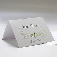 Heart Filigree Thank You Card