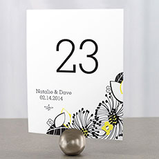 Floral Fusion Table Number