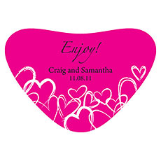 Contemporary Hearts Heart Container Sticker
