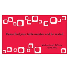 Modern Square Table Sign Card