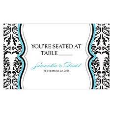 Love Bird Damask Table Sign Card