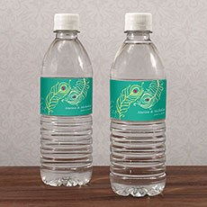 Perfect Peacock Water Bottle Label