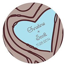 Heart Strings Large Sticker