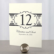 Fleur De Lis Table Number