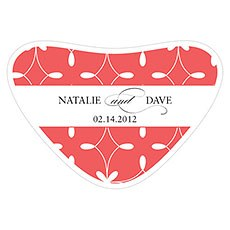 Modern Geometry Heart Container Sticker