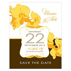 Orchid Glamour Save The Date Card