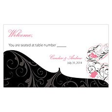 Classic Orchid Escort Table Sign Card