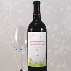 Homespun Charm Wine Label