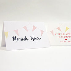 Homespun Charm Place Card With Fold