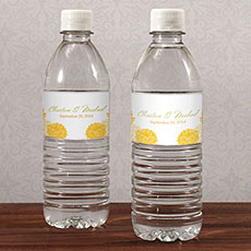 Zinnia Bloom Water Bottle Label