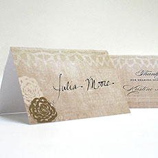 Vintage Lace Place Card With Fold