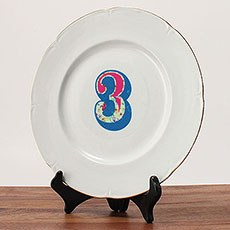 Homespun Table Number Diecut Clear Cling