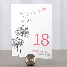 Dandelion Wishes Table Number