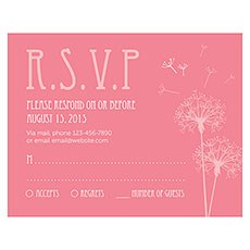Dandelion Wishes RSVP