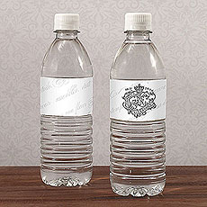 Parisian Love Letter Water Bottle Label