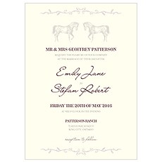 Equestrian Love Invitation