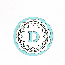 "Laser Expressions Crochet Monogram ""Double-Luxe"" Tag"
