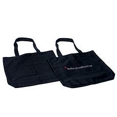 Customizable Black Canvas Tote
