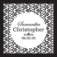 Ornamental Black Pattern Favor / Place Cards