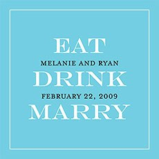 Eat, Drink, Marry Favor / Place Cards