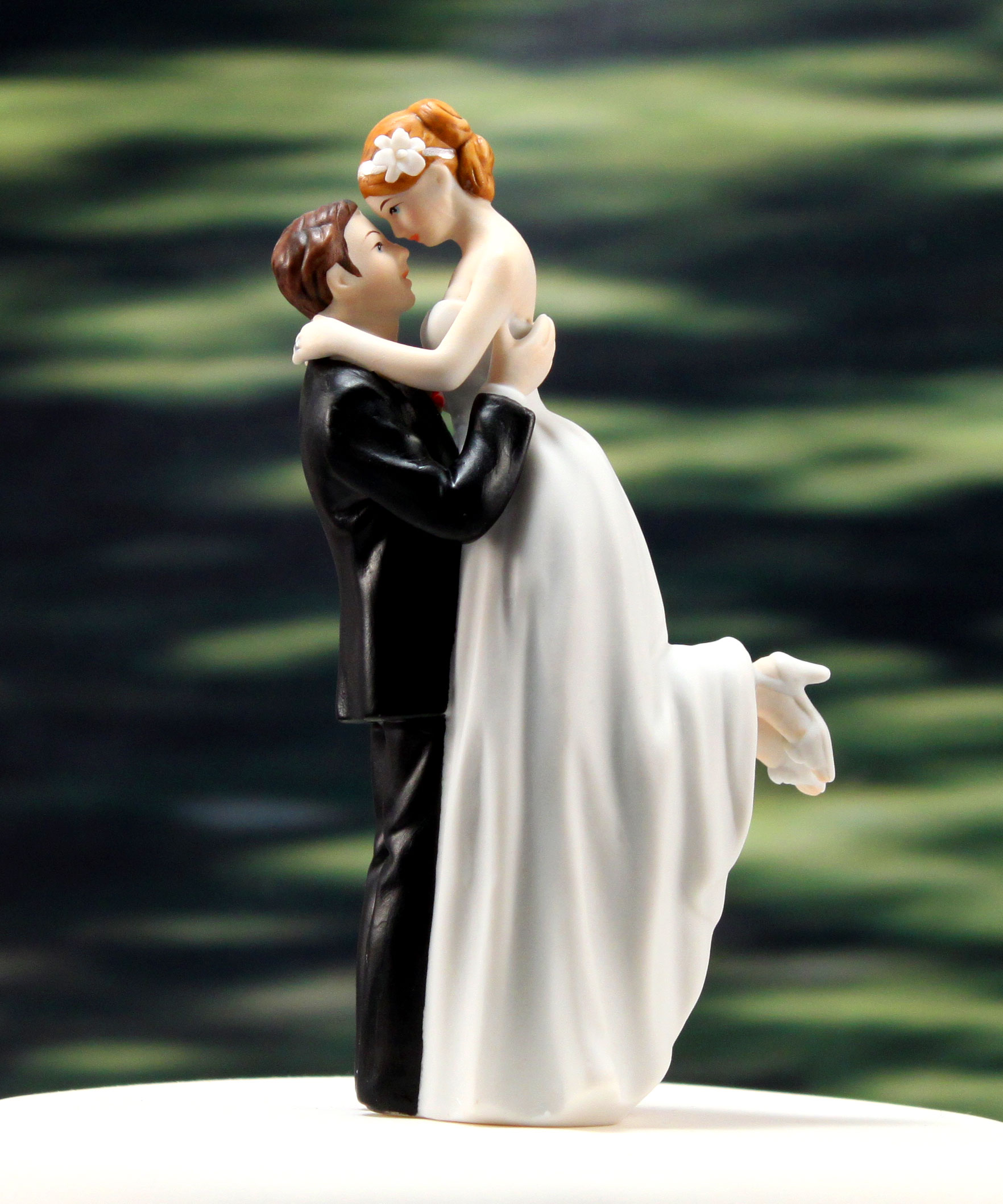 True Romance Bride and Groom Wedding Cake Topper Figurine