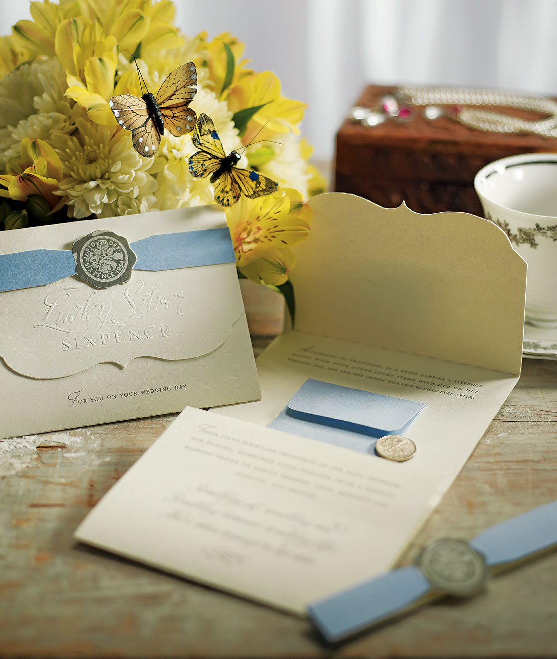 Lucky Wedding Gifts: Beverly Clark Lucky Bride Silver Sixpence Wedding Ceremony