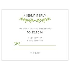 Woodland Pretty Laser Embossed Accessory Cards with Personalization