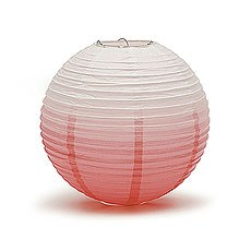 Ombre Colored Round Paper Globe Lanterns